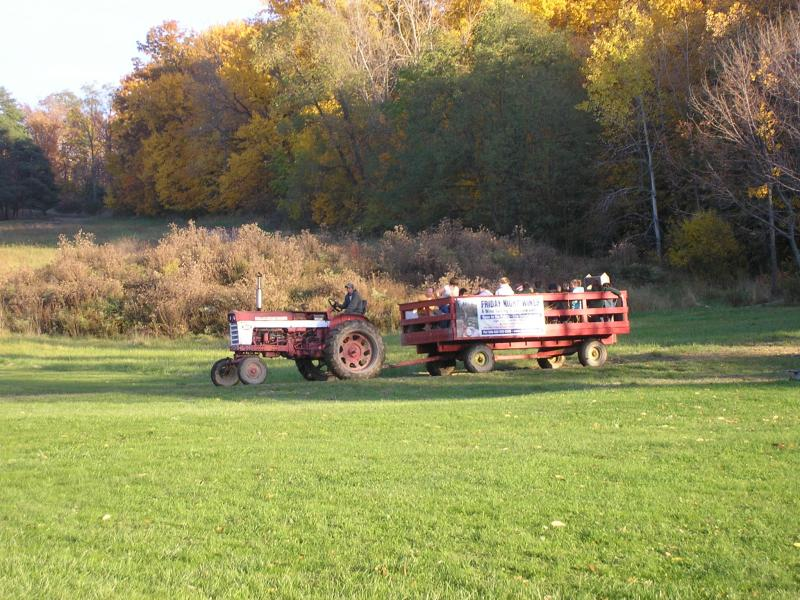 Private hayrides and bonfires in the valley.